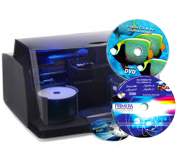 Primera Disc Publisher DP-4100 bedruckt CD, DVD, HD-DVD, Blu-ray